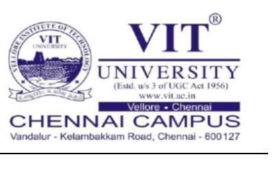 internship in VIT UNIVERSITY