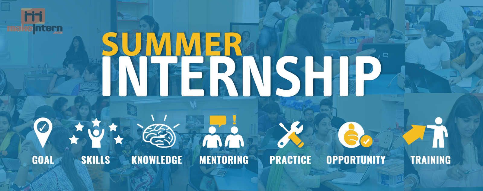 Get all types summer internships for students